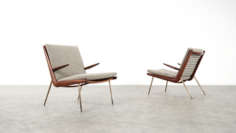 Peter Hvidt & Orla Mølgaard Nielsen Boomerang Lounge Chair, France & Daverkosen For Sale 12