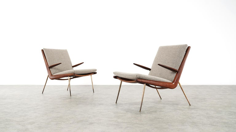 Scandinavian midcentury lounge chairs by Peter Hvidt & Orla Mølgaard-Nielsen, also known as