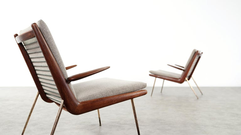 Scandinavian Modern Peter Hvidt & Orla Mølgaard Nielsen Boomerang Lounge Chair, France & Daverkosen For Sale