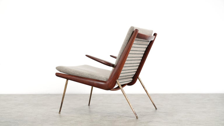 Danish Peter Hvidt & Orla Mølgaard Nielsen Boomerang Lounge Chair, France & Daverkosen For Sale