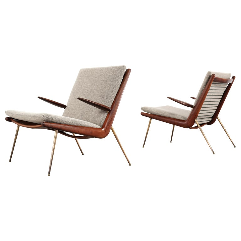 Peter Hvidt & Orla Mølgaard Nielsen Boomerang Lounge Chair, France & Daverkosen For Sale