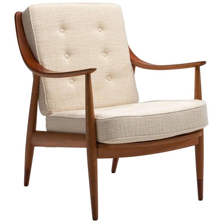 """Peter Hvidt & Orla Mølgaard-Nielsen """"FD144"""" Easy Chair, Denmark, 1953 For Sale"""