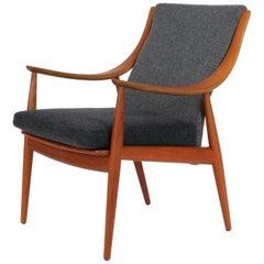 Peter Hvidt & Orla Mølgaard Nielsen, Lounge Chair in Teak and Wool