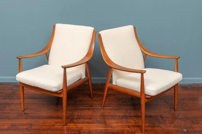 Scandinavian Modern Peter Hvidt & Orla Mølgaard-Nielsen Model FD-146 Lounge Chairs For Sale