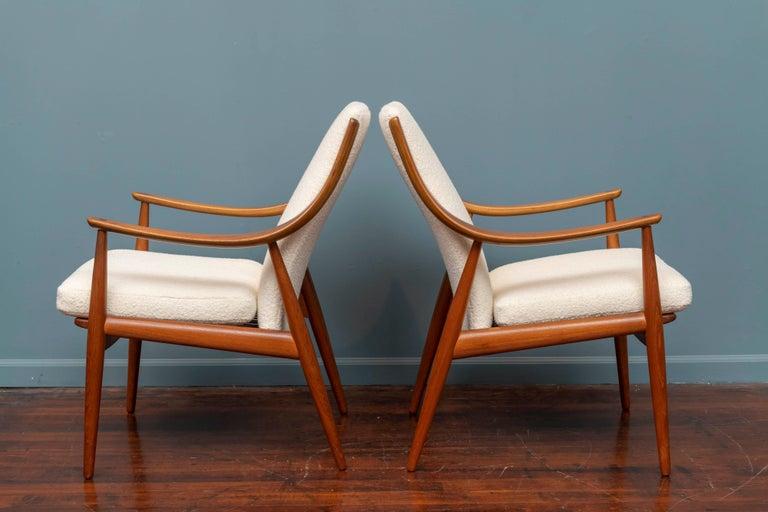 Danish Peter Hvidt & Orla Mølgaard-Nielsen Model FD-146 Lounge Chairs For Sale