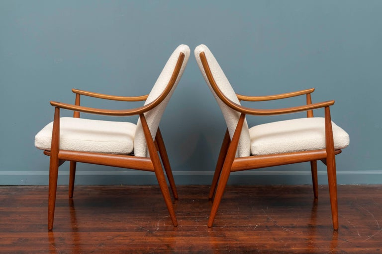 Peter Hvidt & Orla Mølgaard-Nielsen Model FD-146 Lounge Chairs In Good Condition For Sale In San Francisco, CA