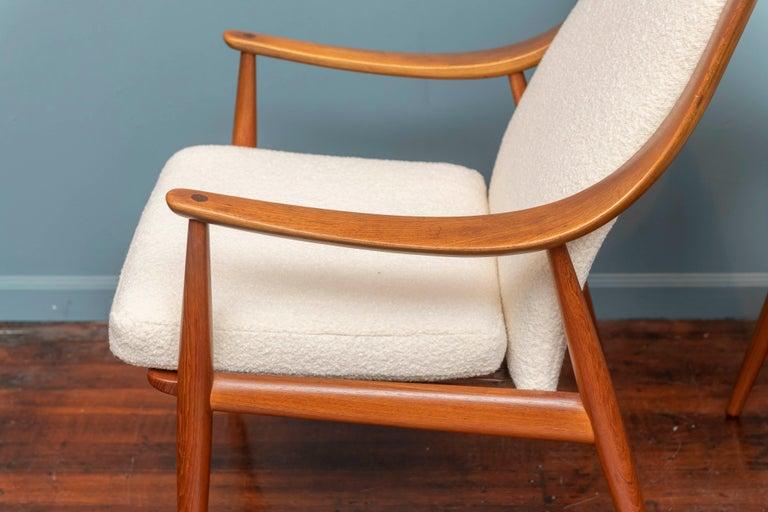 Mid-20th Century Peter Hvidt & Orla Mølgaard-Nielsen Model FD-146 Lounge Chairs For Sale
