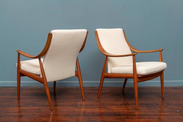 Teak Peter Hvidt & Orla Mølgaard-Nielsen Model FD-146 Lounge Chairs For Sale