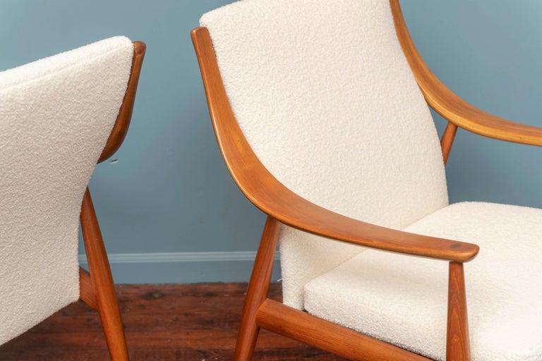 Peter Hvidt & Orla Mølgaard-Nielsen Model FD-146 Lounge Chairs For Sale 1
