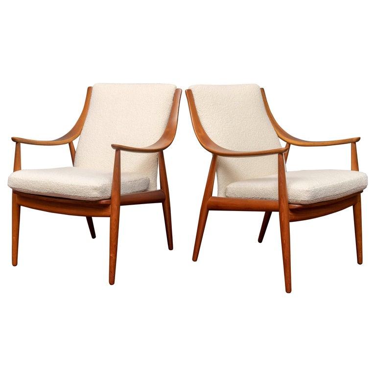 Peter Hvidt & Orla Mølgaard-Nielsen Model FD-146 Lounge Chairs For Sale