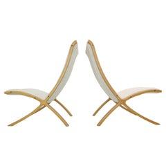 """Peter Hvidt & Orla Mølgaard-Nielsen Set of 2 """"AX"""" Easy Chairs for Fritz Hansen"""