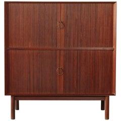 Peter Hvidt & Orla Mølgaard-Nielsen Tabour Door Cabinet, Denmark, 1950s