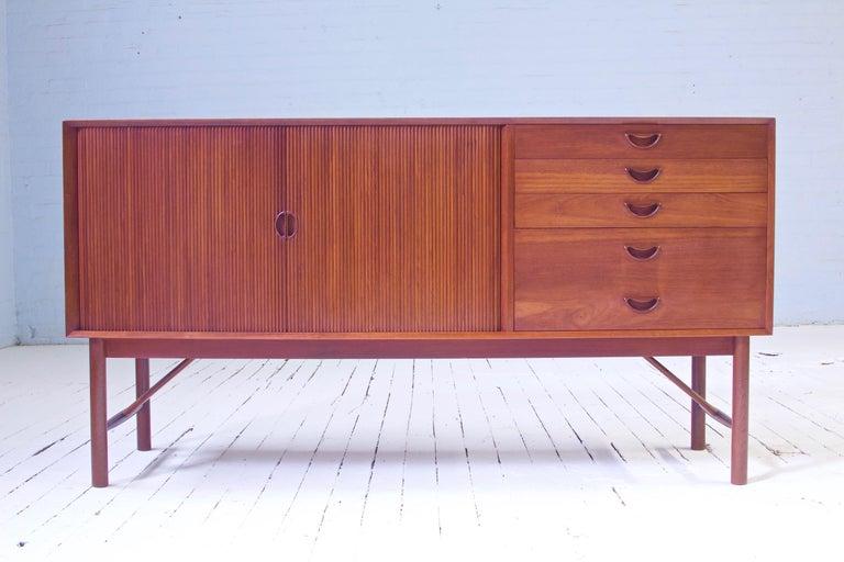 Peter Hvidt & Orla Mølgaard Nielsen Tambour Sideboard in Teak, Denmark, 1958 For Sale 10