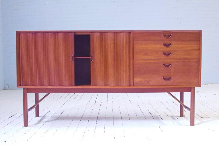 Peter Hvidt & Orla Mølgaard Nielsen Tambour Sideboard in Teak, Denmark, 1958 For Sale 11