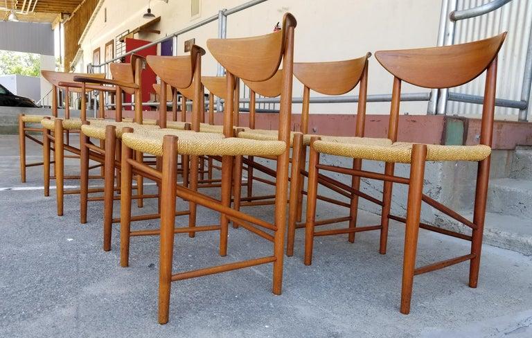 Peter Hvidt & Orla Mølgaard-Nielsen Teak Dining Chairs Set 10 5