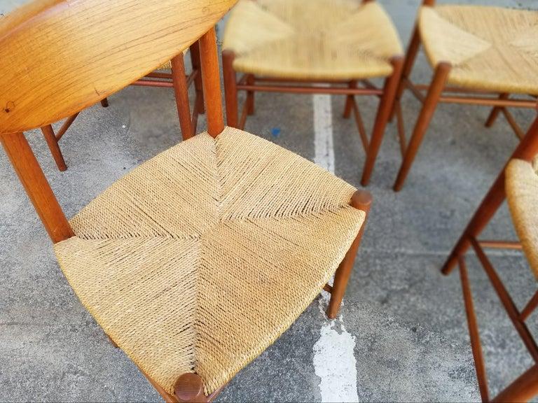 Peter Hvidt & Orla Mølgaard-Nielsen Teak Dining Chairs Set 10 6
