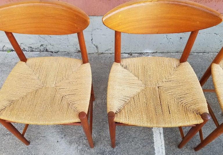 Peter Hvidt & Orla Mølgaard-Nielsen Teak Dining Chairs Set 10 7