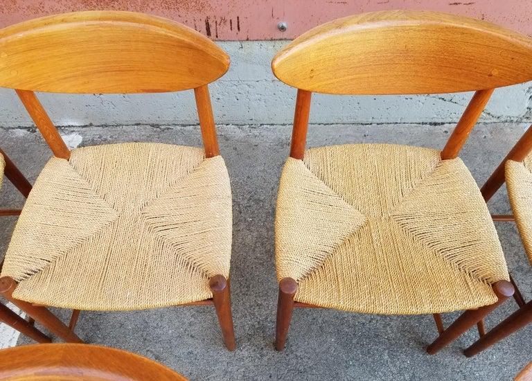 Peter Hvidt & Orla Mølgaard-Nielsen Teak Dining Chairs Set 10 8