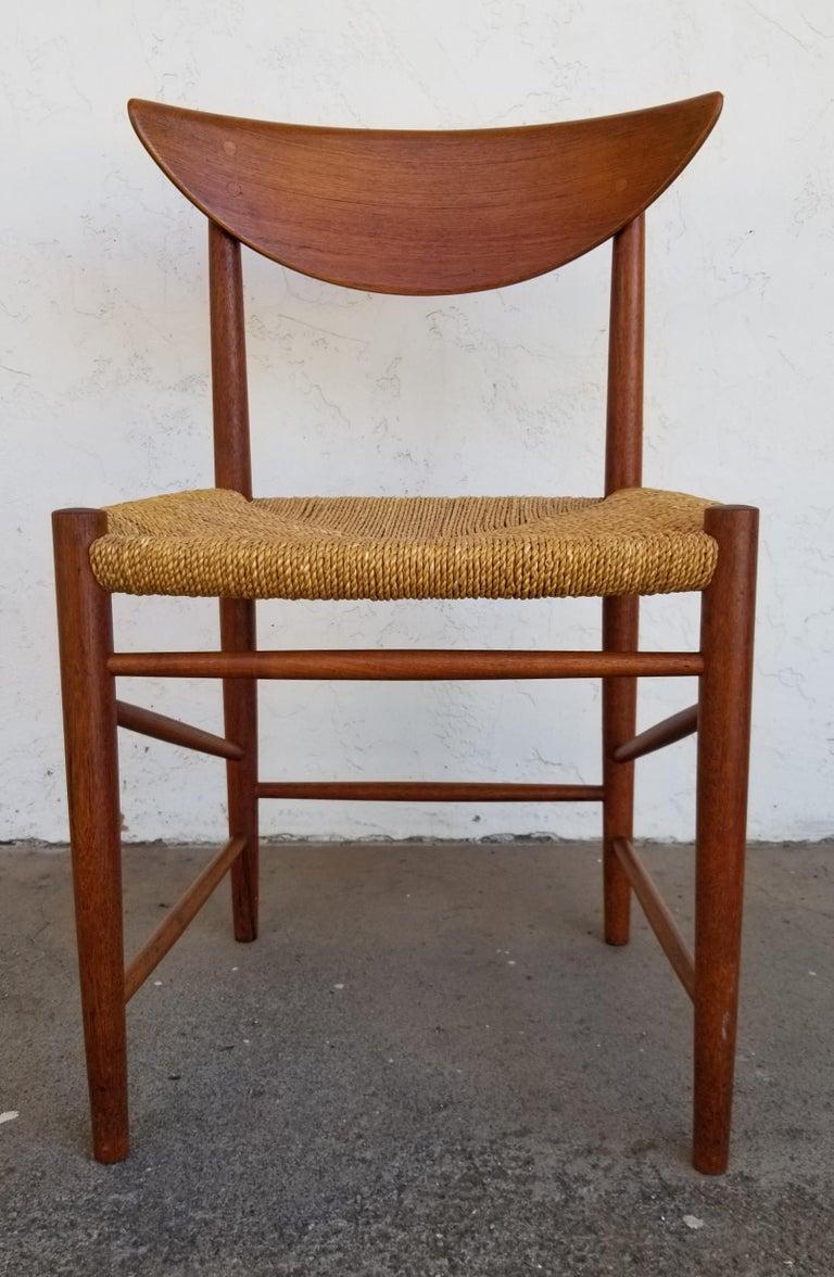 Scandinavian Modern Peter Hvidt & Orla Mølgaard-Nielsen Teak Dining Chairs Set 10