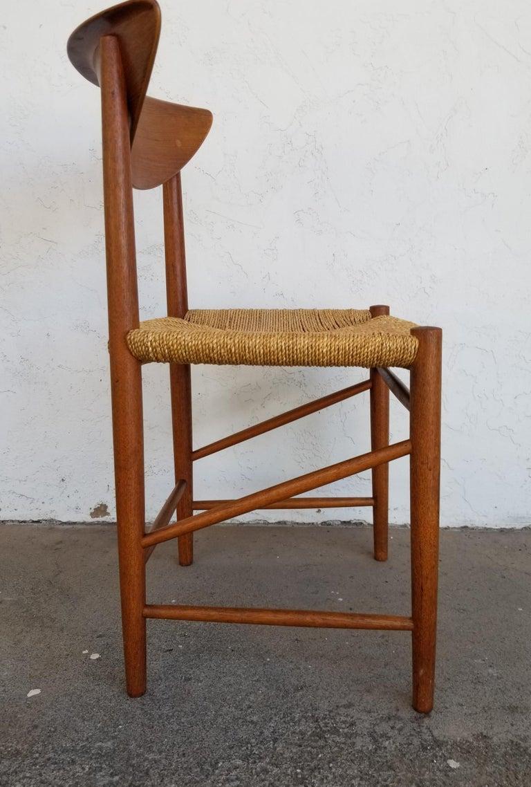 Peter Hvidt & Orla Mølgaard-Nielsen Teak Dining Chairs Set 10 In Good Condition In Fulton, CA