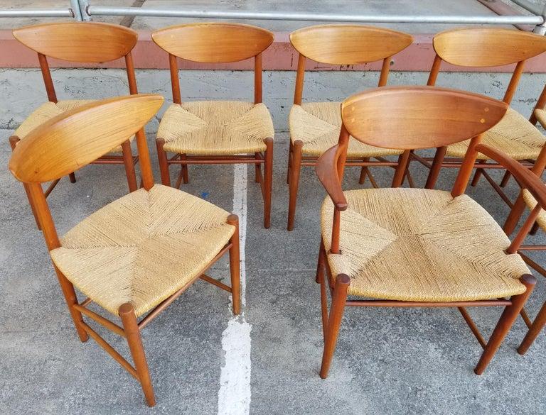 Peter Hvidt & Orla Mølgaard-Nielsen Teak Dining Chairs Set 10 1