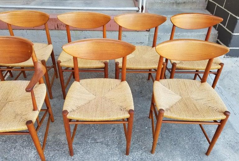 Peter Hvidt & Orla Mølgaard-Nielsen Teak Dining Chairs Set 10 2