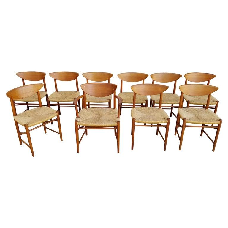 Peter Hvidt & Orla Mølgaard-Nielsen Teak Dining Chairs Set 10