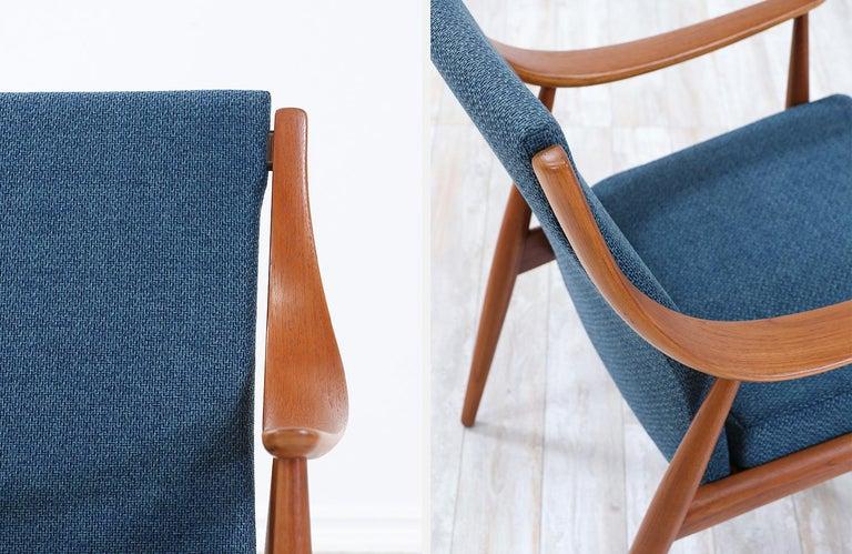 Peter Hvidt & Orla Mølgaard-Nielsen Teak Lounge Chairs for France & Søn 4