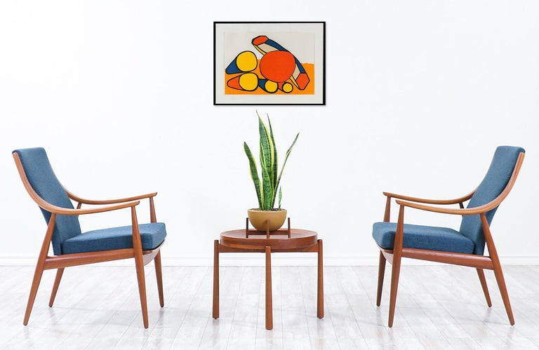 Peter Hvidt & Orla Mølgaard-Nielsen teak lounge chairs for France & Søn.