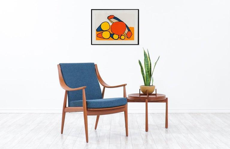 Mid-Century Modern Peter Hvidt & Orla Mølgaard-Nielsen Teak Lounge Chairs for France & Søn