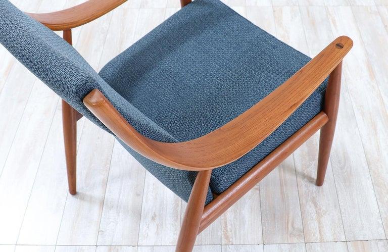 Mid-20th Century Peter Hvidt & Orla Mølgaard-Nielsen Teak Lounge Chairs for France & Søn