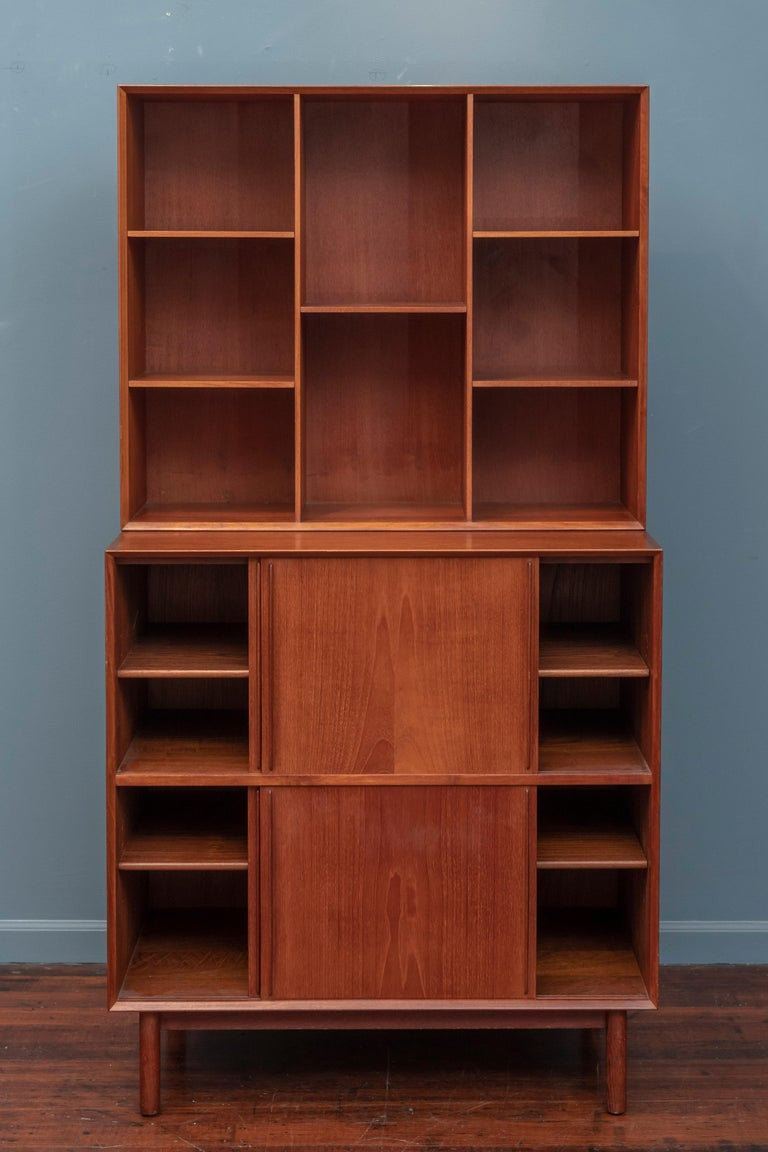 Scandinavian Modern Peter Hvidt & Orla Molgaard Nielsen Bookcase Cabinet For Sale