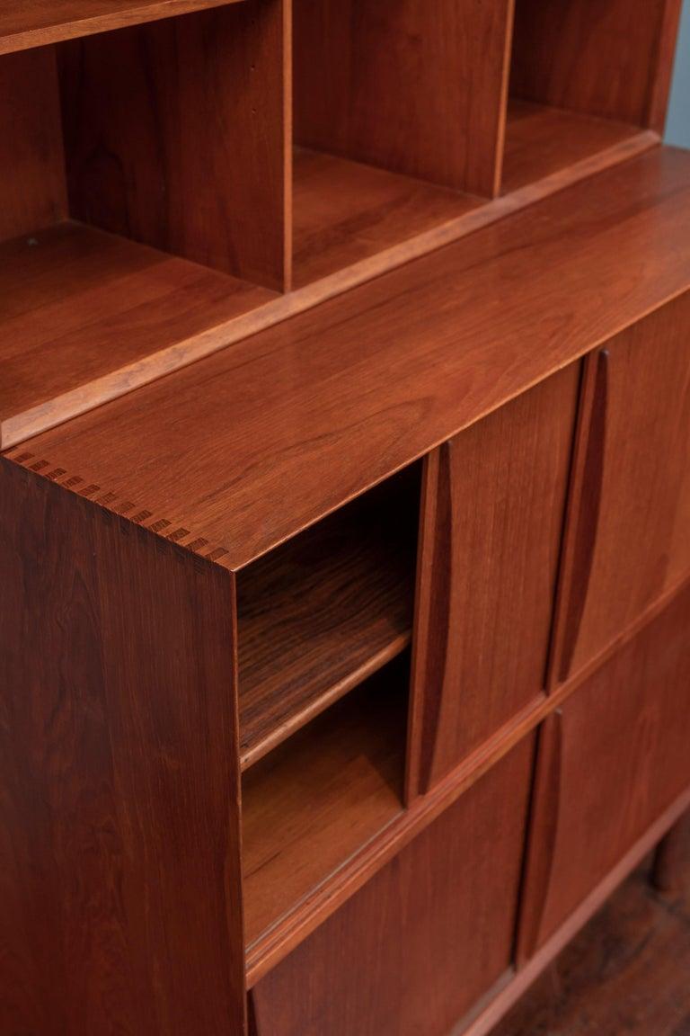 Danish Peter Hvidt & Orla Molgaard Nielsen Bookcase Cabinet For Sale