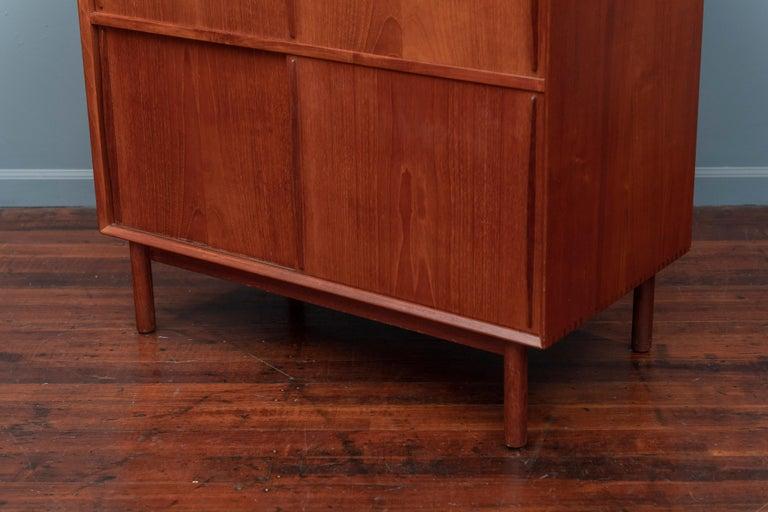 Teak Peter Hvidt & Orla Molgaard Nielsen Bookcase Cabinet For Sale