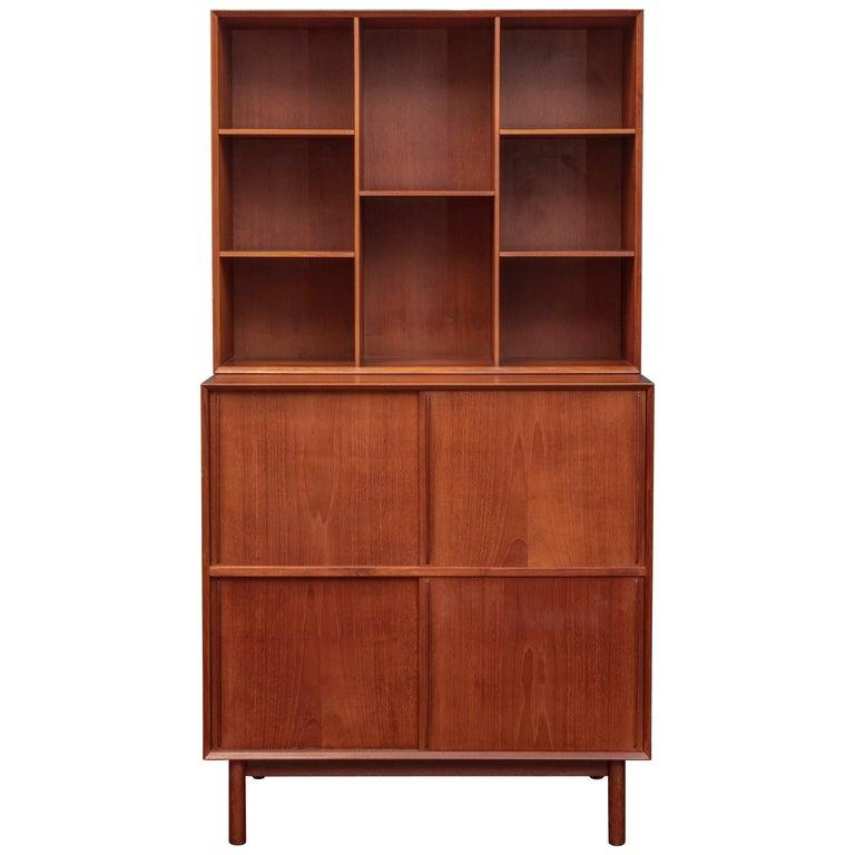 Peter Hvidt & Orla Molgaard Nielsen Bookcase Cabinet For Sale