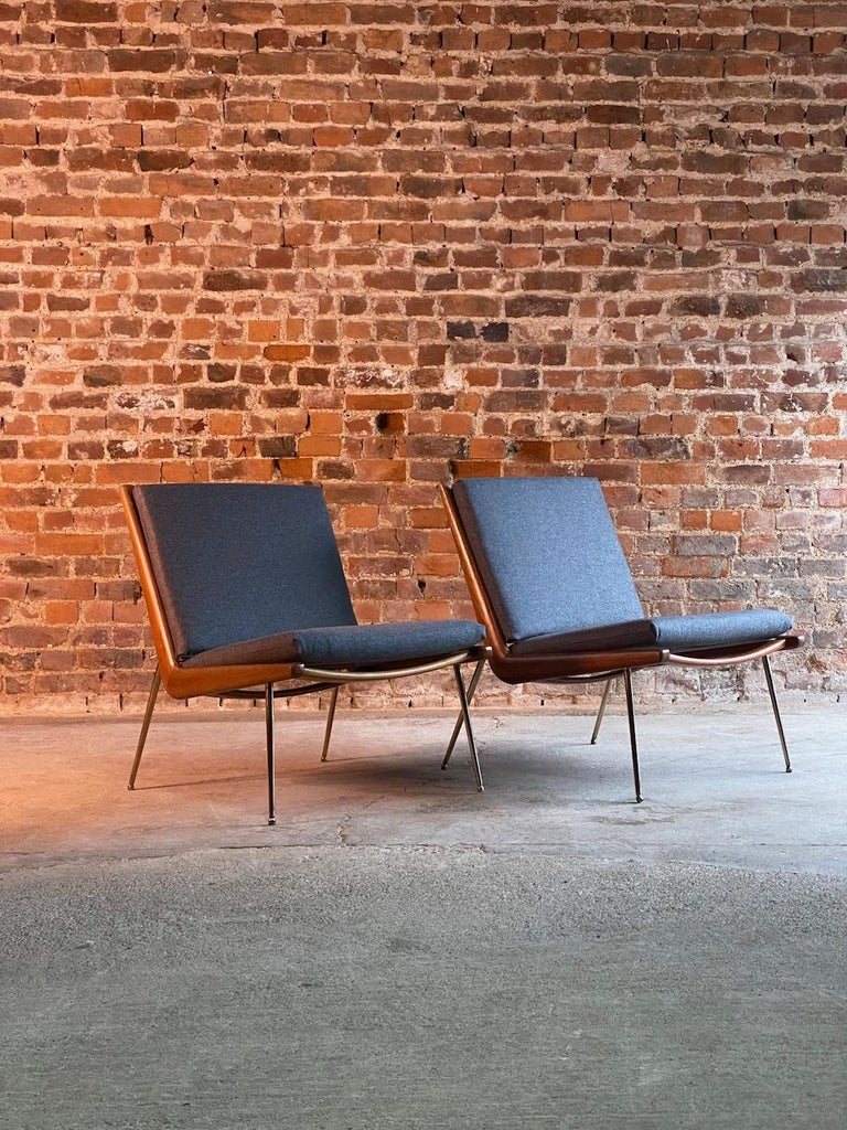 Mid-Century Modern Peter Hvidt & Orla Molgaard-Nielsen Boomerang Chairs FD134 by France & Son, 1955 For Sale