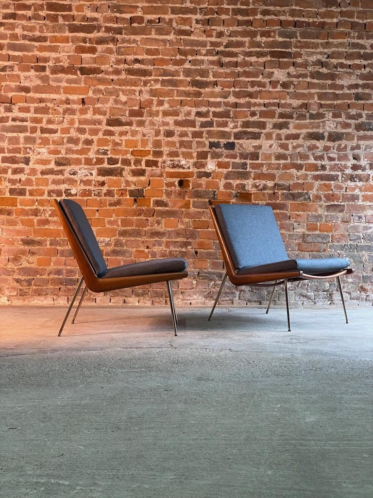 Danish Peter Hvidt & Orla Molgaard-Nielsen Boomerang Chairs FD134 by France & Son, 1955 For Sale