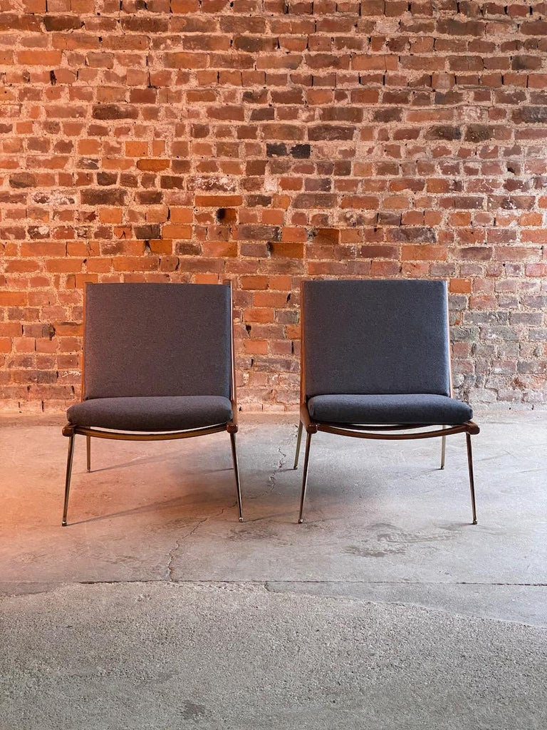 Teak Peter Hvidt & Orla Molgaard-Nielsen Boomerang Chairs FD134 by France & Son, 1955 For Sale