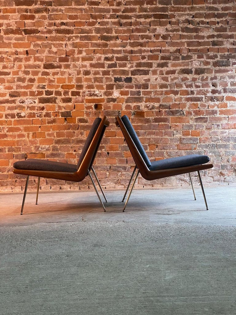 Peter Hvidt & Orla Molgaard-Nielsen Boomerang Chairs FD134 by France & Son, 1955 For Sale 1