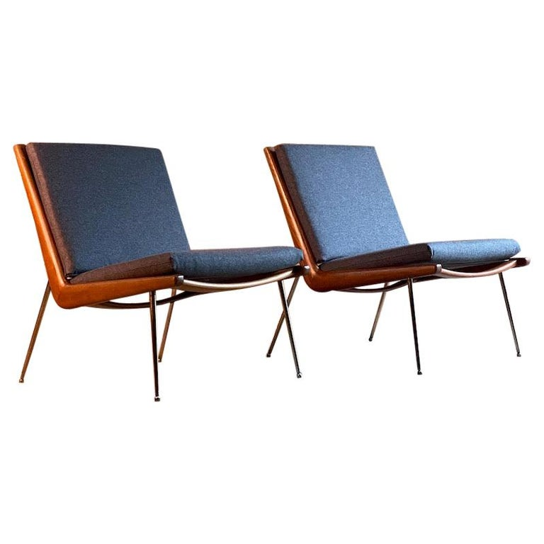 Peter Hvidt & Orla Molgaard-Nielsen Boomerang Chairs FD134 by France & Son, 1955 For Sale
