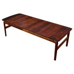 Peter Hvidt & Orla Molgaard Nielsen Solid Rosewood Coffee Table For France & Son