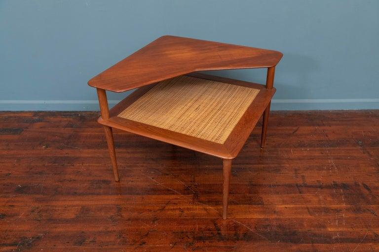 Scandinavian Modern Peter Hvidt & Orla Moregaard Corner Table for France & Son
