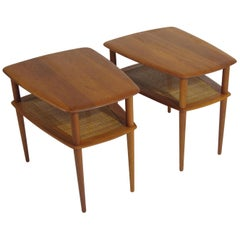 Peter Hvidt Solid Teak Danish Side Tables