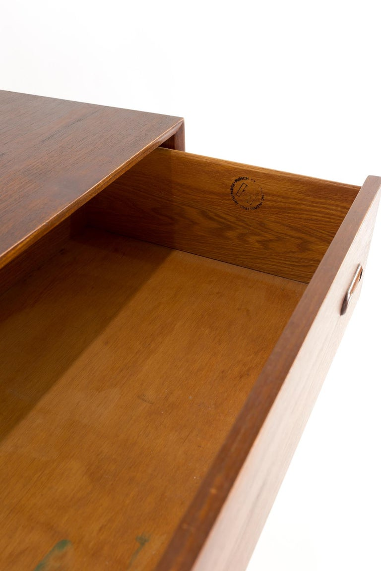 Peter Hvidt Style Midcentury Danish Teak 5-Drawer Highboy Dresser Chest For Sale 4