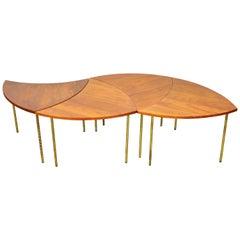 Peter Hvidt Teak and Brass Biomorphic Coffee Table