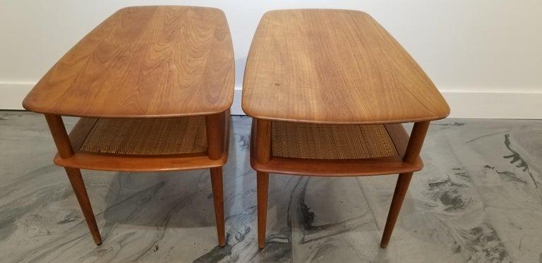 Peter Hvidt Teak Danish Modern End Tables, A Pair For Sale 10