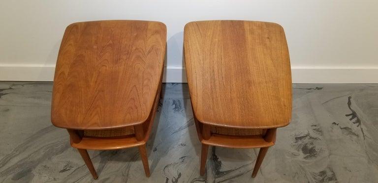 20th Century Peter Hvidt Teak Danish Modern End Tables, A Pair For Sale