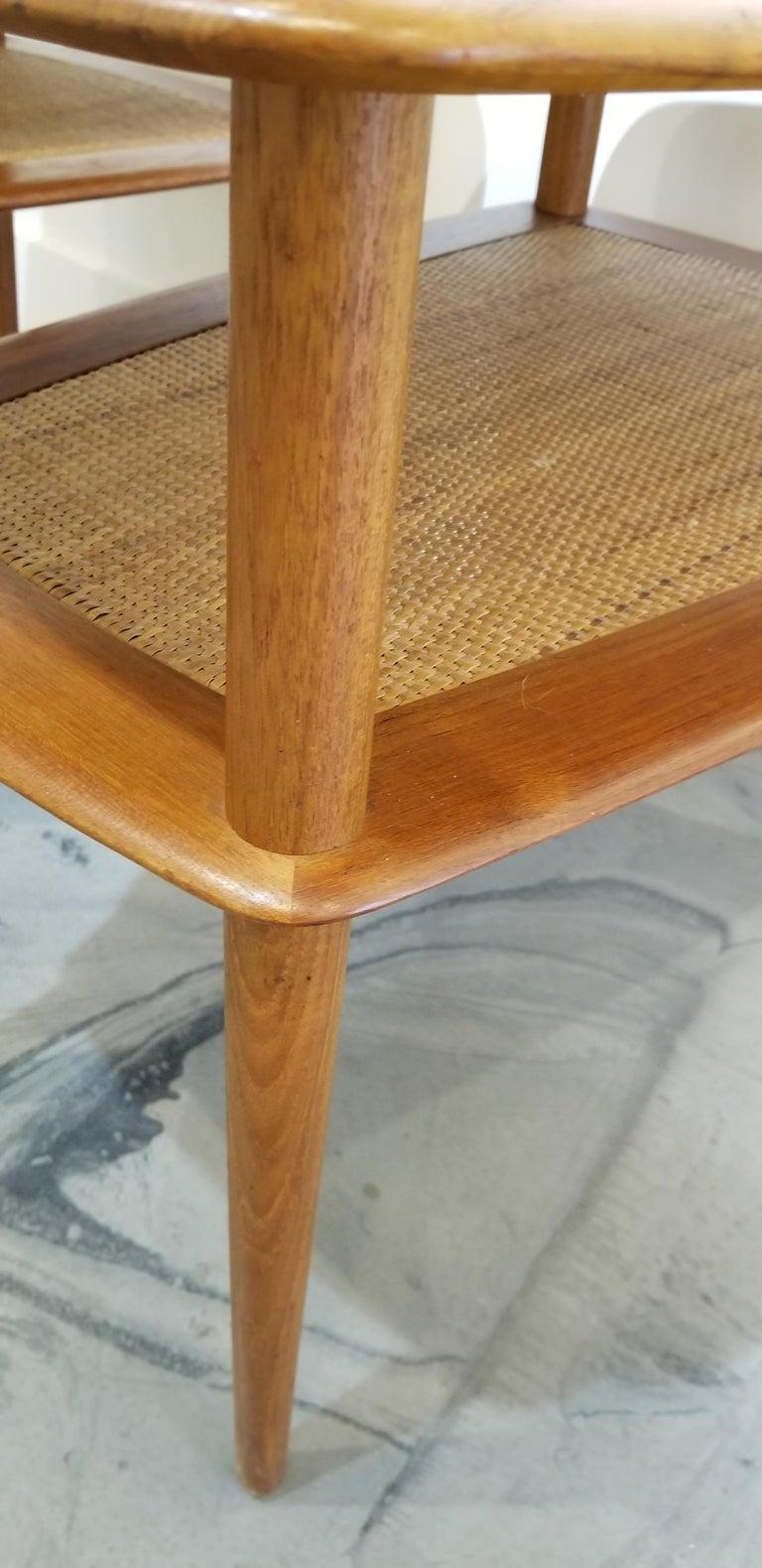 Peter Hvidt Teak Danish Modern End Tables, A Pair For Sale 2