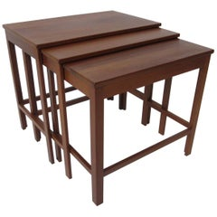 Peter Hvidt Teak Nesting Tables for France & Son