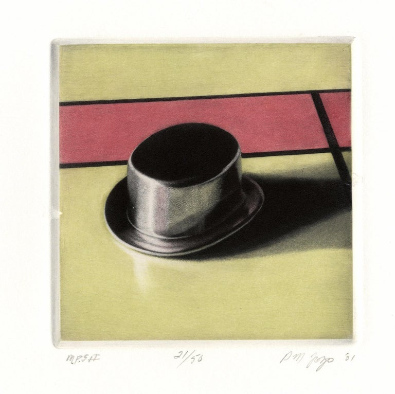 Monopoly Set II (Was the Top Hat your favorite piece?) - Beige Still-Life Print by Peter Jogo